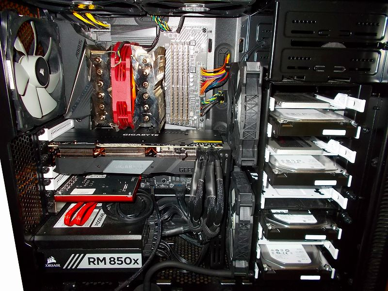 第 3 世代 Ryzen CPU(Zen 2) 自作 PC 組立、PC ケース Fractal Design Define R5 組み込み・セットアップ作業、ビデオカード MSI Radeon RX Vega 64 Air Boost 8G OC から GIGABYTE GeForce RTX 2070 SUPER GAMING OC 3X 8G 交換