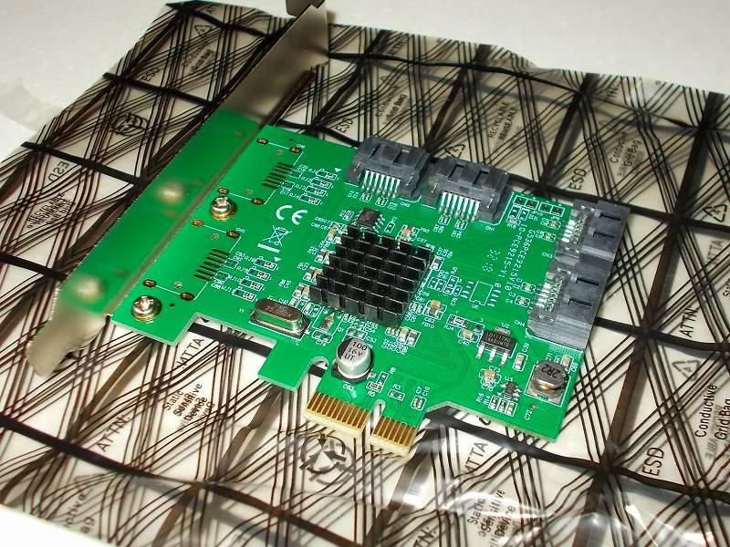 第 3 世代 Ryzen CPU(Zen 2)でこだわりの自作 PC を構成!PC パーツ購入編、第 3 世代 Ryzen CPU(Zen 2) 自作 PC メインパーツ構成リスト、I/O Crest PCIe SATA カード 4ポート(Marvel 88SE9215) 購入