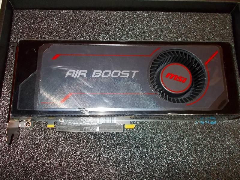 第 3 世代 Ryzen CPU(Zen 2)でこだわりの自作 PC を構成!PC パーツ購入編、第 3 世代 Ryzen CPU(Zen 2) 自作 PC メインパーツ構成リスト、ビデオカード MSI Radeon RX Vega 64 Air Boost 8G OC 購入 → メーカー修理行き
