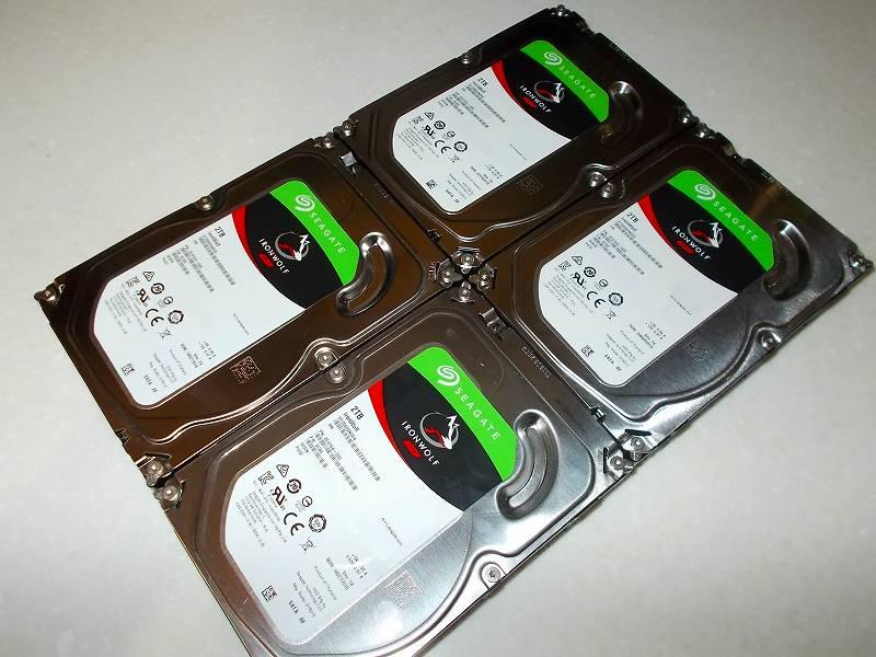 第 3 世代 Ryzen CPU(Zen 2)でこだわりの自作 PC を構成!PC パーツ購入編、第 3 世代 Ryzen CPU(Zen 2) 自作 PC メインパーツ構成リスト、HDD(SATA) Seagate HDD IronWolf ST2000VN004 2TB(中古)