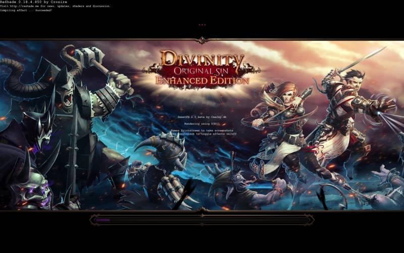 PC ゲーム Divinity: Original Sin - Enhanced Edition 日本語化とゲームプレイ最適化メモ、Mod 情報、ReShade for DoS EE by vito740 をダウンロードして展開・解凍、ReShade Setup.exe 実行、インストール先 Shipping フォルダにある EoCApp.exe を開く、Shipping フォルダにインストールされた ReShade ファイル・フォルダ、ゲーム起動時に SweetFX ReShade の文字がオーバーレイ表示されていれば正常に動作
