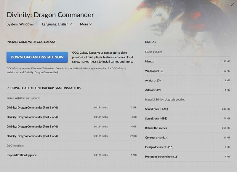 PC ゲーム Divinity: Dragon Commander 日本語化メモ、GOG 版 Divinity: Dragon Commander Imperial Edition 日本語化可能