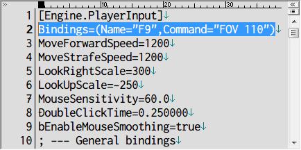 PC ゲーム Papo & Yo 日本語化メモ、Papo & Yo カスタマイズ情報、Papo & Yo - FOV(Field of view) 変更方法、インストール先 Engine\Config フォルダにある BaseInput.ini ファイルをテキストエディタで開く、BaseInput.ini ファイルの [Engine.PlayerInput] セクションに FOV を変更する Bindings コード追加