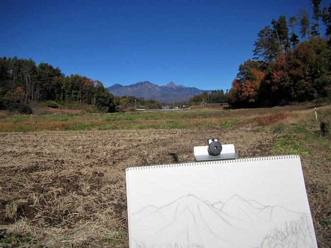4 19.11.18-19 八ヶ岳スケッチハイク ➁キャノン (135)