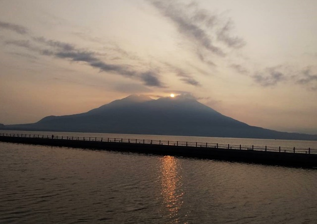 桜島朝日頂上
