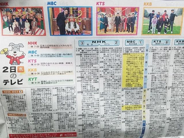 正月のテレビ欄1