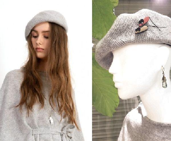 copウールケープとベレー帽6