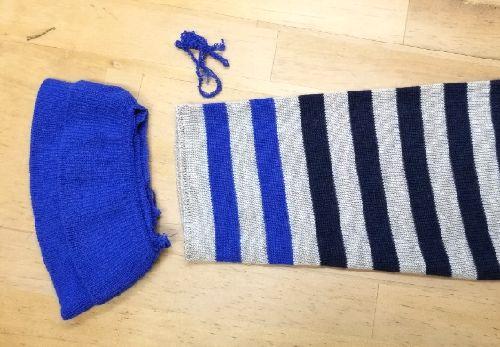 ボーダーニットの袖丈2つ‐6