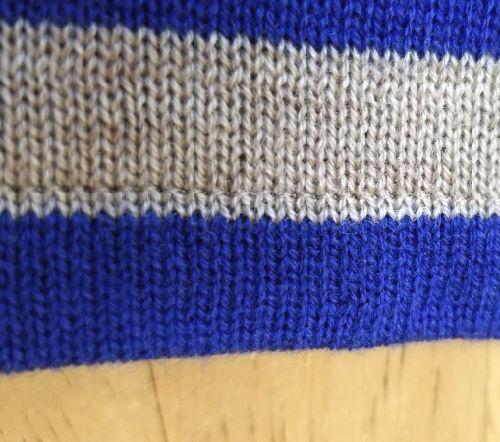 ボーダーニットの袖丈2つ‐8
