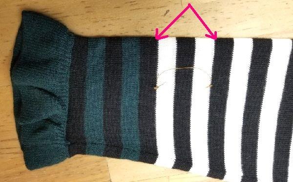 ボーダーニットの袖丈2つ‐14