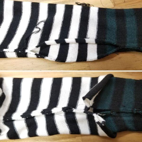 ボーダーニットの袖丈2つ‐15