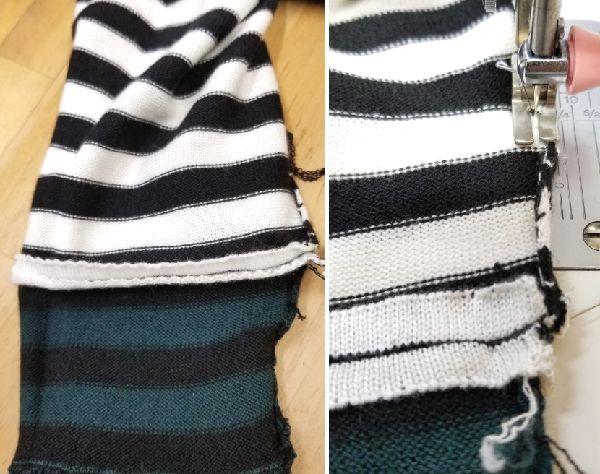 ボーダーニットの袖丈2つ‐17
