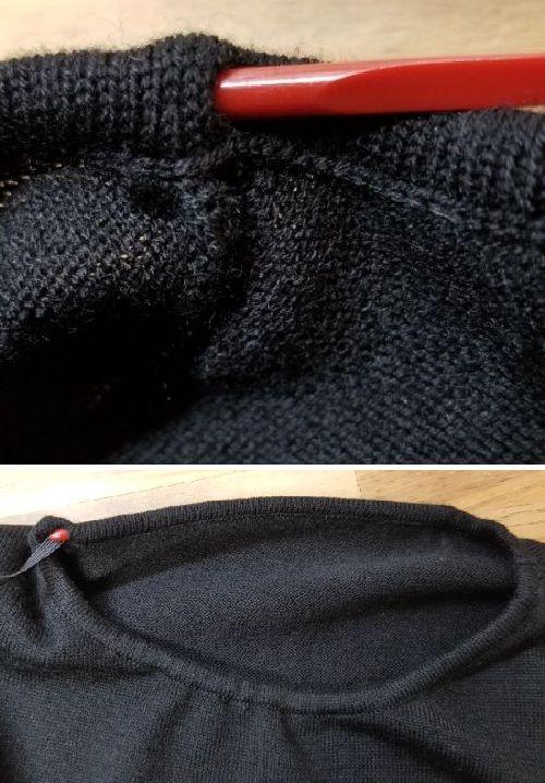 ボーダーニットの袖丈2つ‐23