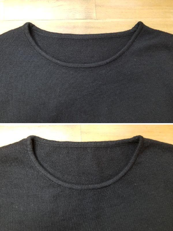 ボーダーニットの袖丈2つ‐25