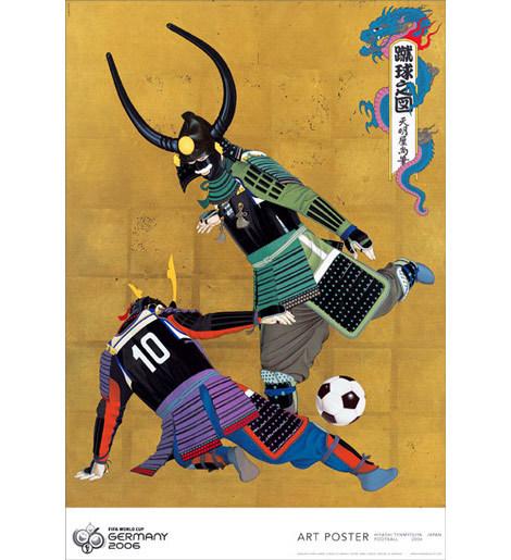 3FIFAの公式ポスターにもなった「蹴球之図」(天明屋尚・てんみょうやひさし氏の作品)