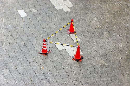 三角コーンの三角領域