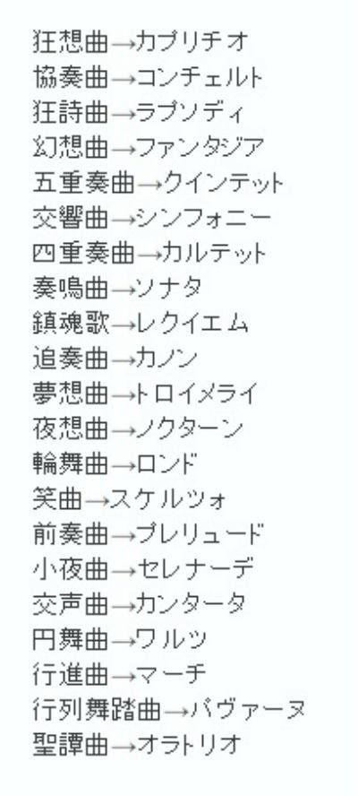 楽曲の日本語訳