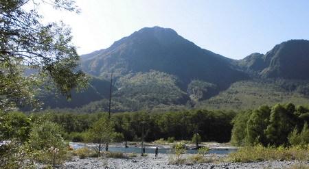 大正池焼岳