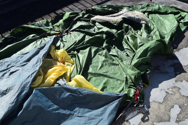 何がなんでもキャンプだし 青根キャンプ場 いやしの湯 撤収 テント 修理 道志みち 台風19号 ファウデ リペア完了 アライテント シーム