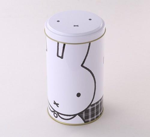 ミッフィー丸缶モノトーン_1