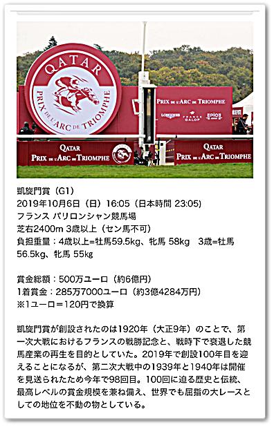 凱旋門 賞 2019 日本 時間
