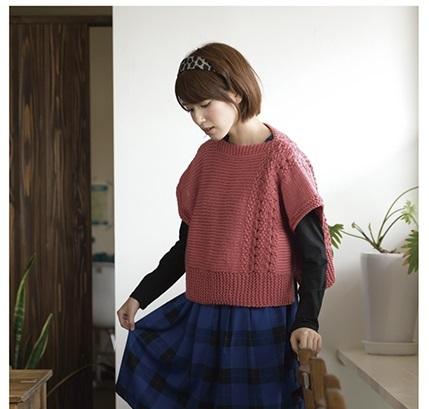 棒針編み初心者向け極太四角のセーター