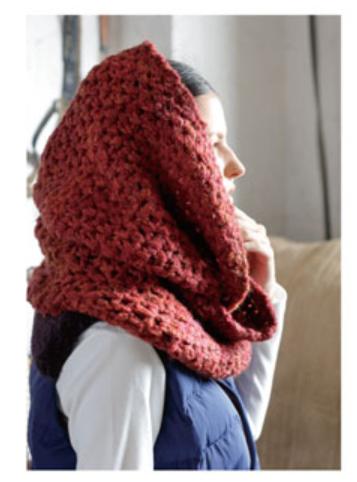 かぎ針編み無料編み図カグールになるスヌード