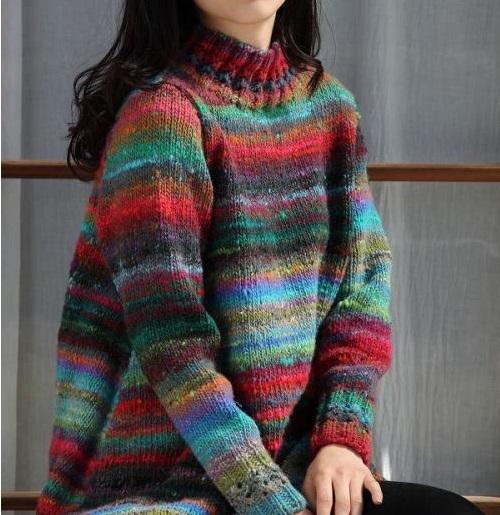 野呂英作棒針編みレシピ琴大き目セーター