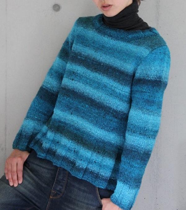 編み物キット野呂英作こもれびセーター棒針編み