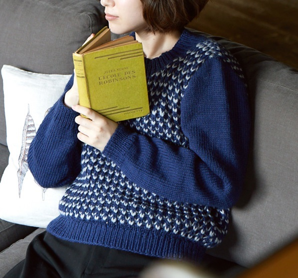 イギリスゴム編み無料編み図棒針編みセーター
