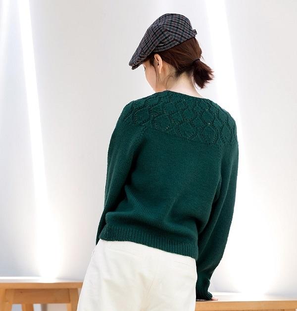棒針編み無料編み図セーター毛糸ピエロソフトメリノヨークセーター2