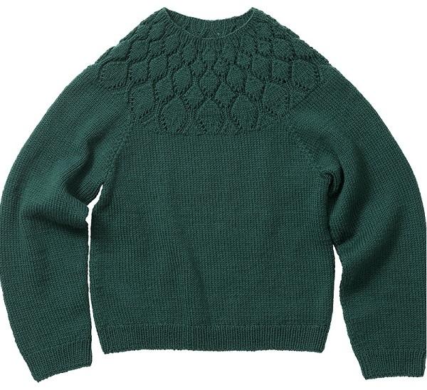 棒針編み無料編み図セーター毛糸ピエロソフトメリノヨークセーター3