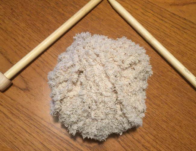 かぎ針編み初心者さん簡単もふもふ毛糸でスヌード2