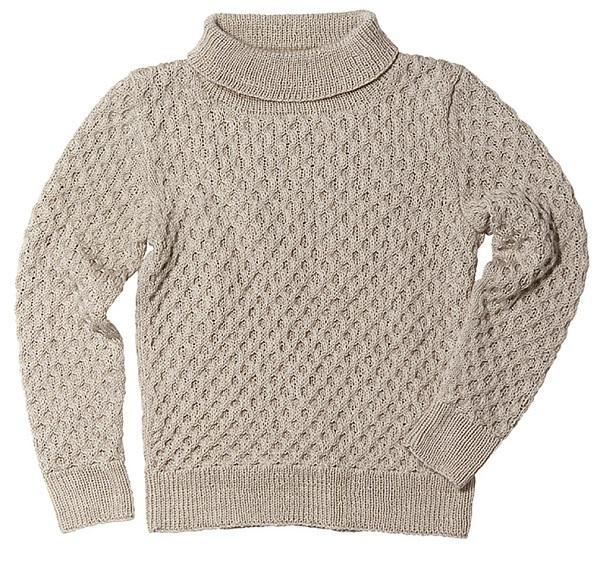 棒針編み無料編み図毛糸ピエロプララナバルファ4plyハニカムセーター3