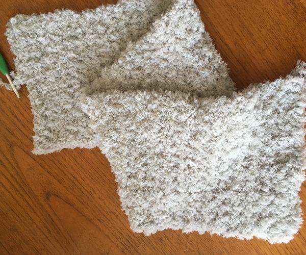 かぎ針編み簡単編み図もこカフェスヌード1