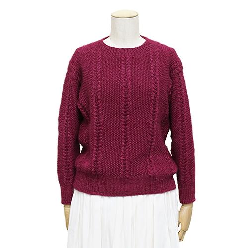 パピーボーボリ無料編み図かのこレースのセーター