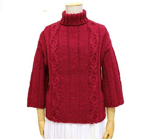 棒針編み無料編み図毛糸ブリティッシュエロイカリブアランセーター