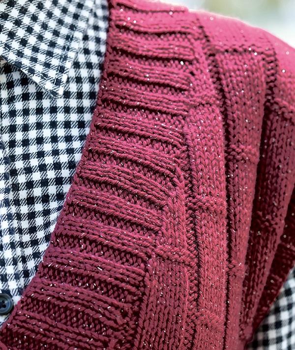 無料編み図棒針編み毛糸ピエロソフトメリノ中細ユリカラグランセーター2