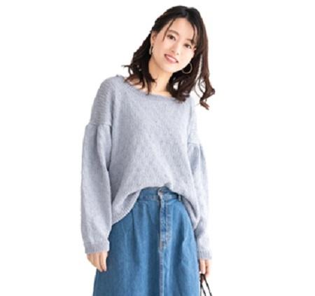 棒針編み無料編み図サマーヤーン綿糸毛糸ピエロロッコボタニカルパフスリーブセーター