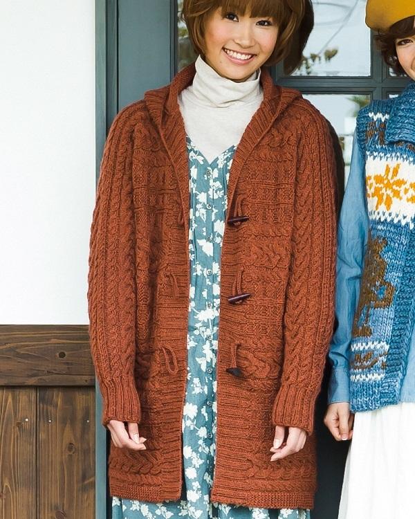 棒針編み無料編み図ジャケットカーディガン