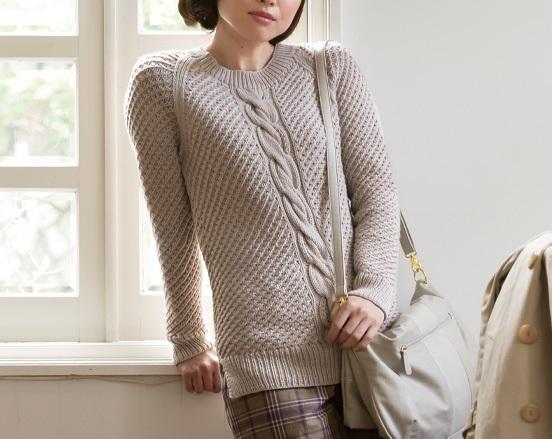 棒針編み無料編み図セーター