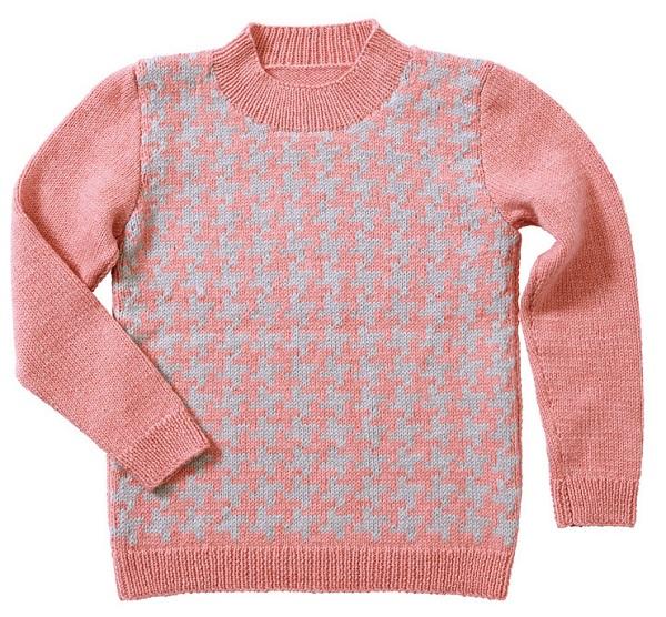 千鳥格子セーター棒針編み毛糸ピエロ楽天