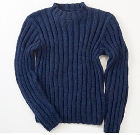 棒針編み無料編み図メンズセーター