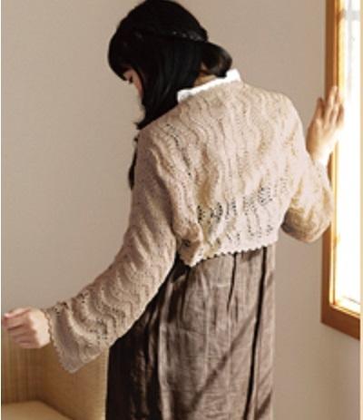 あみこもびより手編み無料編み図レシピ2wayショール
