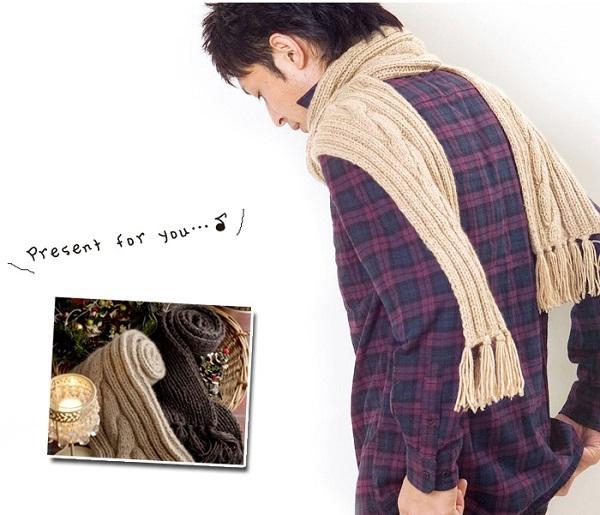 手編みカシミヤマフラー棒針編みキット毛糸ピエロ楽天