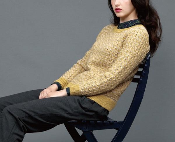 無料編み図棒針編みデザインセーター毛糸手編みプルオーバー