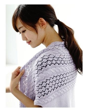 無料編み図毛糸ザッカストアーズ棒針編みショールジレ手編み