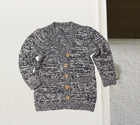 棒針編み無料編み図カーディガン毛糸ピエロ
