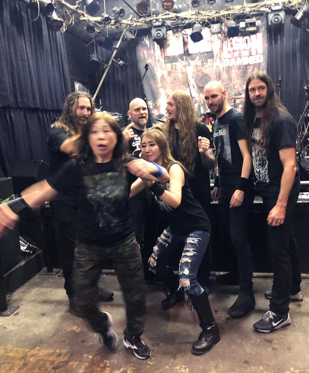 VALKYRIE(ヴァルキューレ)20191026-Legion-of-the-damned-japantourオープニングアクト(終演後02)