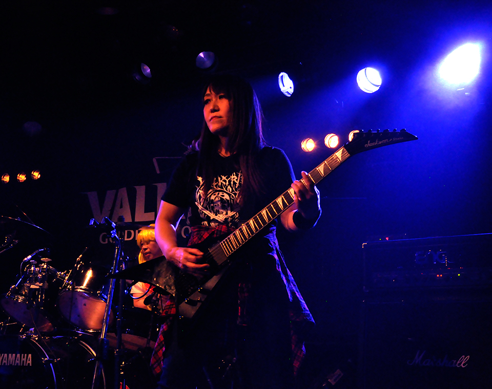 VALKYRIE(ヴァルキューレ)ギターみほちゃん_Painkiller2019(天王寺Fireloop)